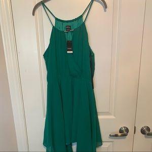 Bebe emerald green dress